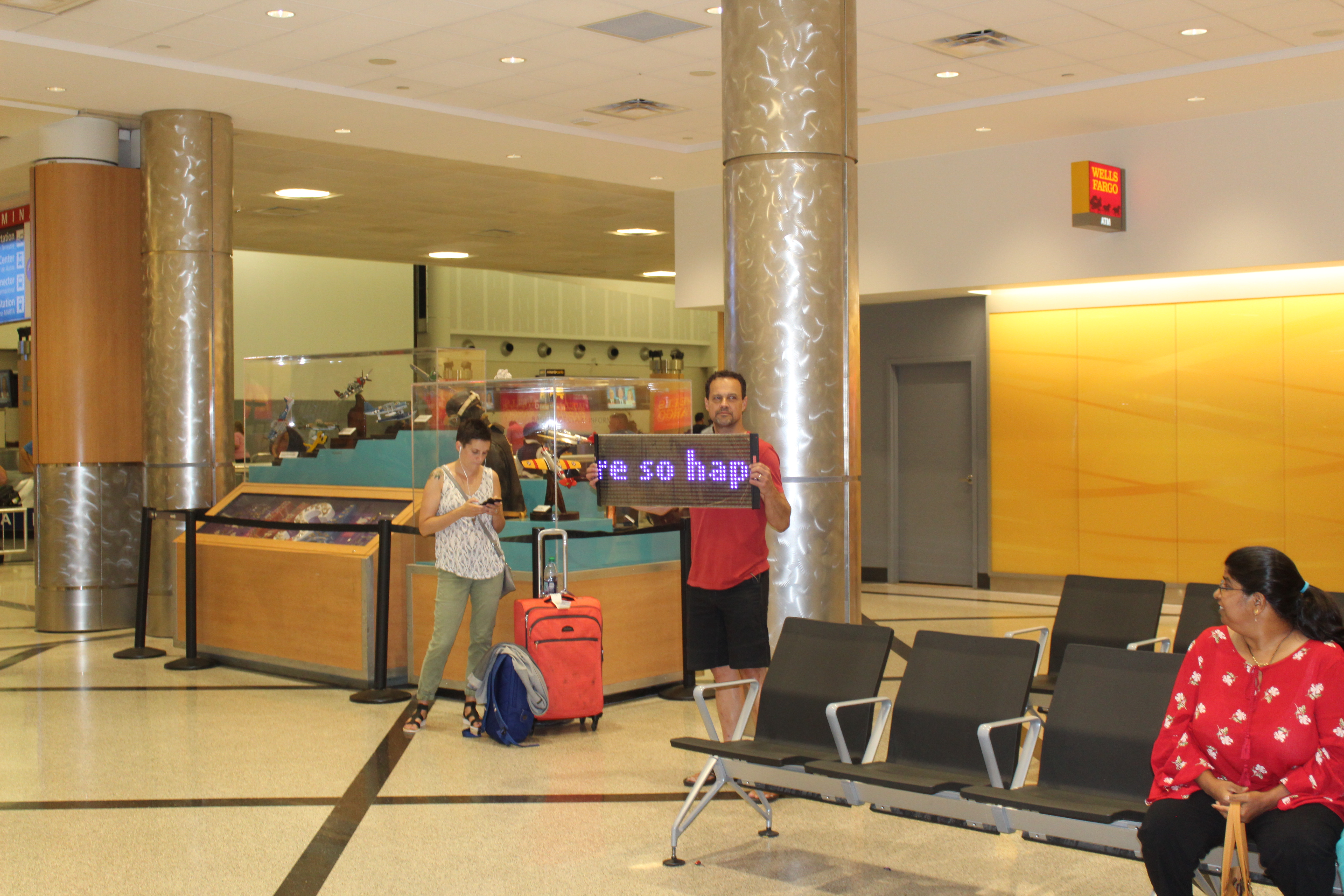 airport. head turner led display