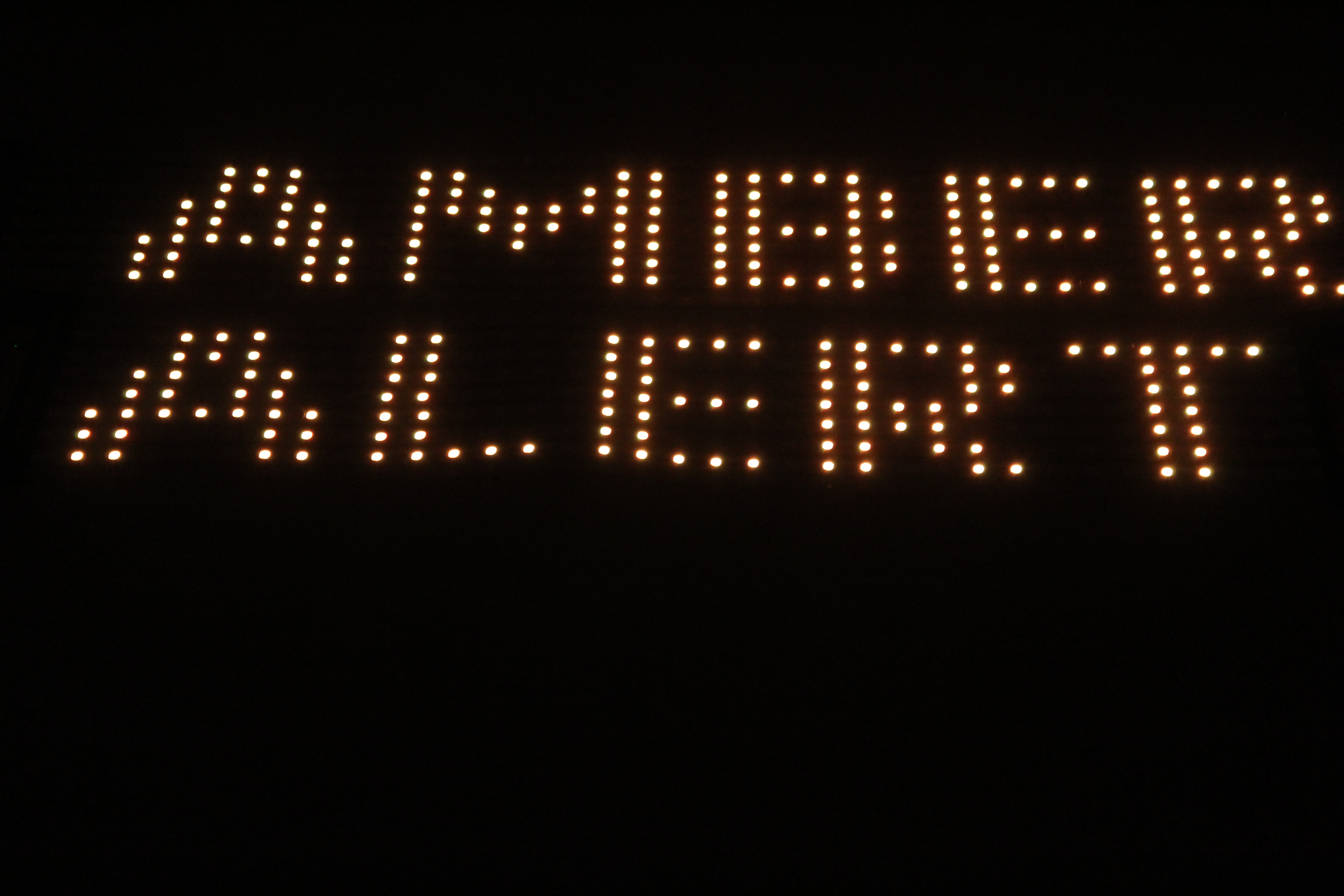 led display amber alerts
