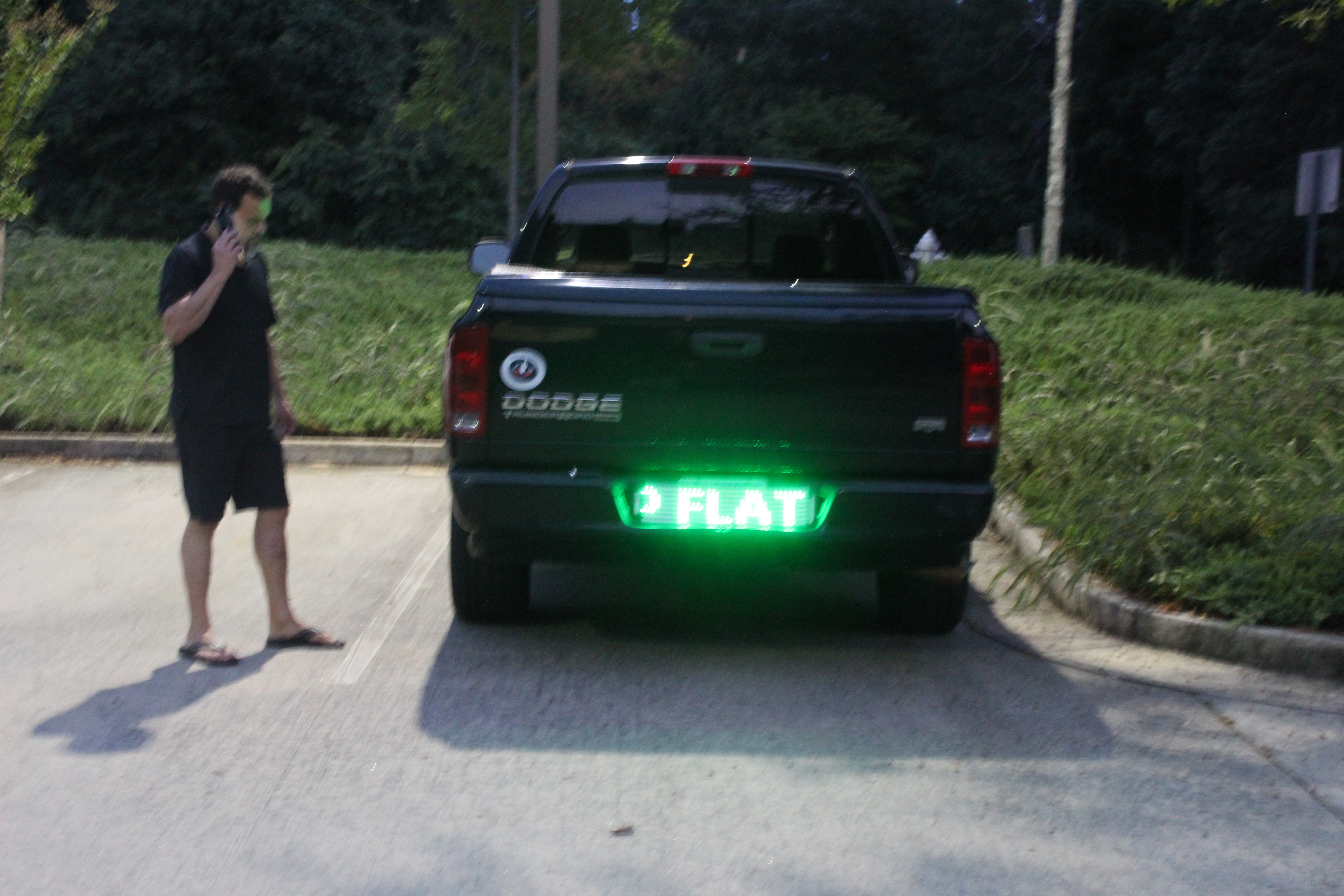 flat tire led display scrolling text