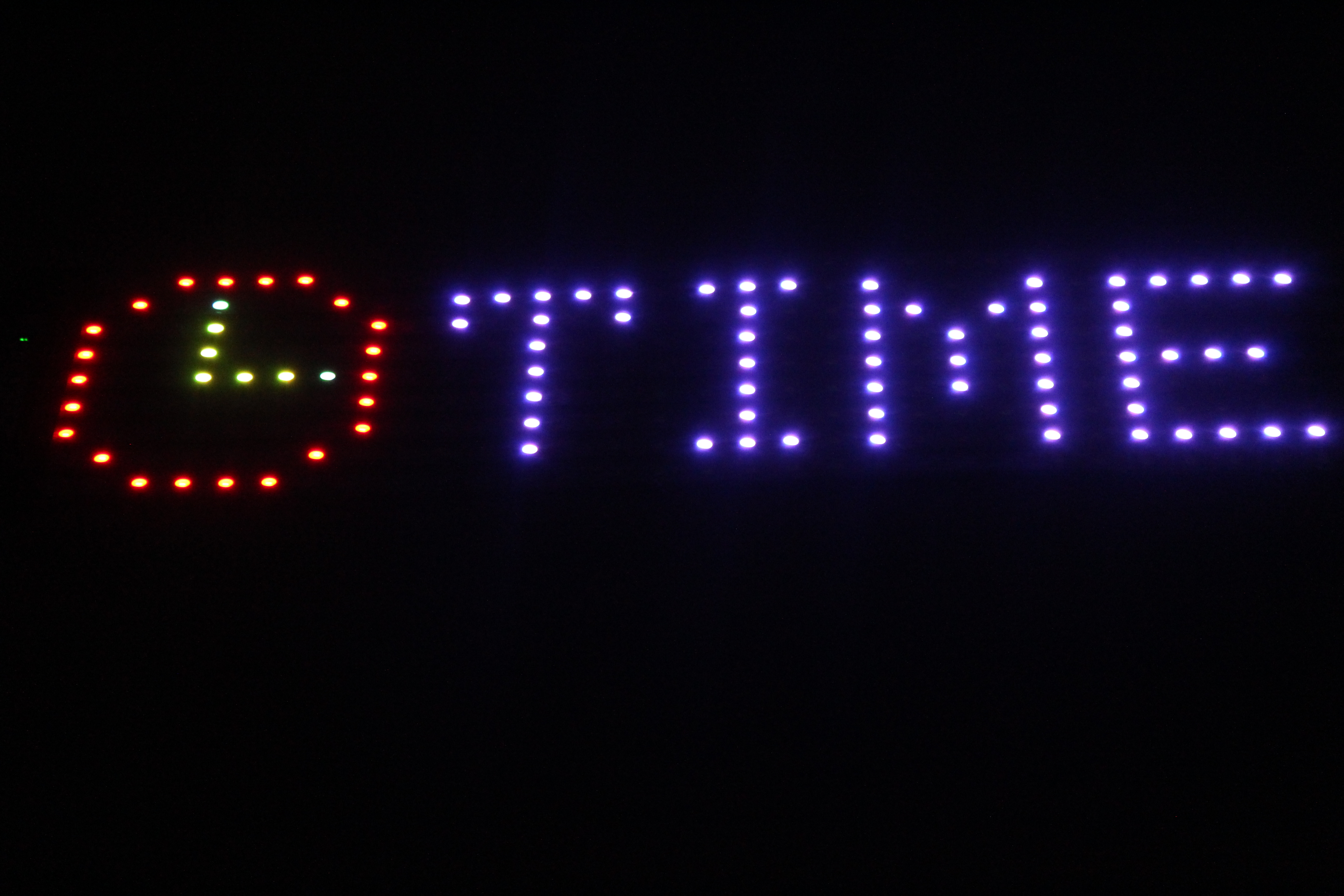 LED display of date and time