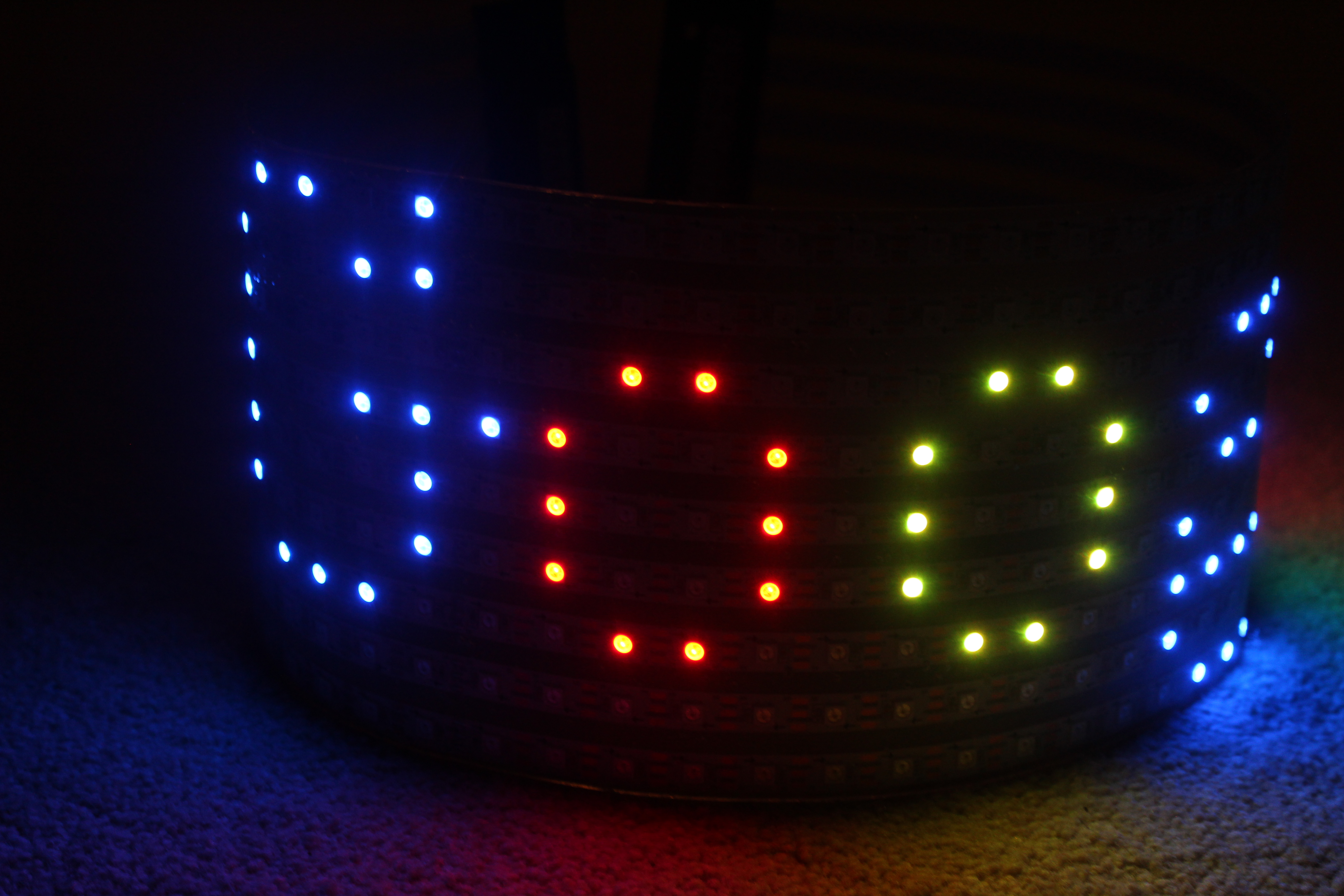 curved outside led display